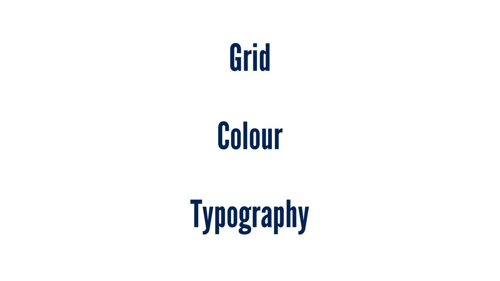 Grid Colour Typography