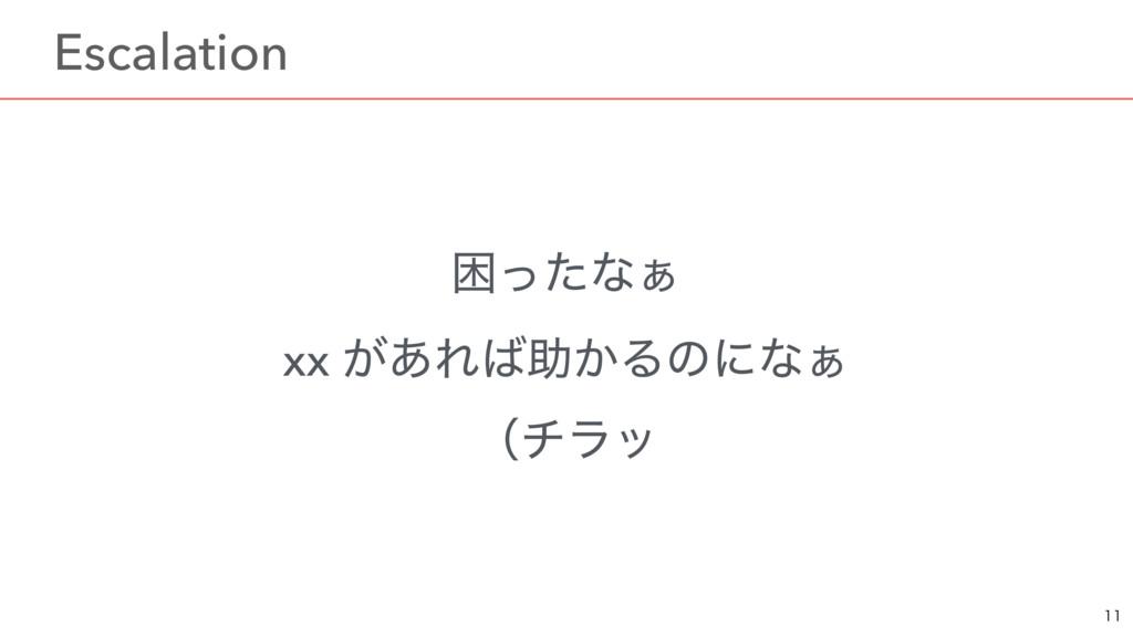 ࠔͬͨͳ͊ xx ͕͋Εॿ͔Δͷʹͳ͊ ʢνϥο  ɹEscalation