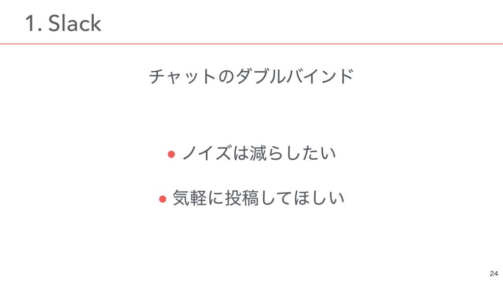 νϟοτͷμϒϧόΠϯυ ● ϊΠζݮΒ͍ͨ͠ ● ؾܰʹߘͯ͠΄͍͠  ɹ1. Sl...