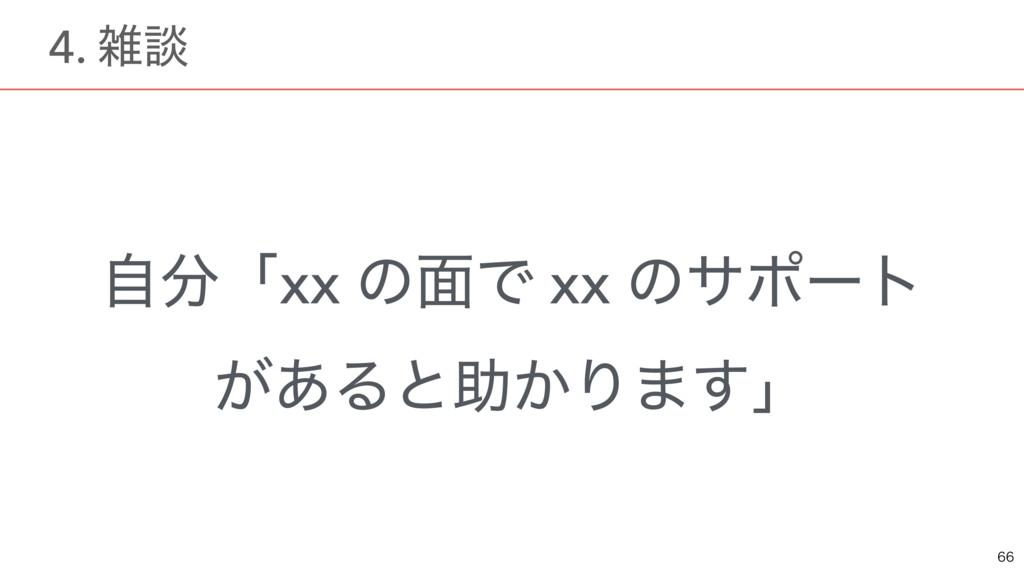 ࣗʮxx ͷ໘Ͱ xx ͷαϙʔτ ͕͋Δͱॿ͔Γ·͢ʯ  ɹ4. ஊ