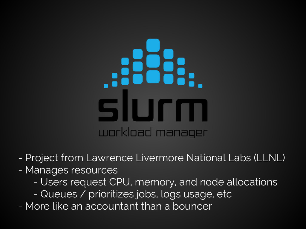 - Project from Lawrence Livermore National Labs...