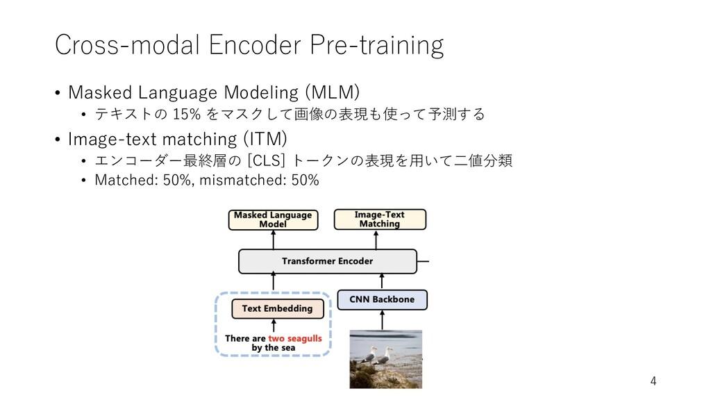 Cross-modal Encoder Pre-training • Masked Langu...