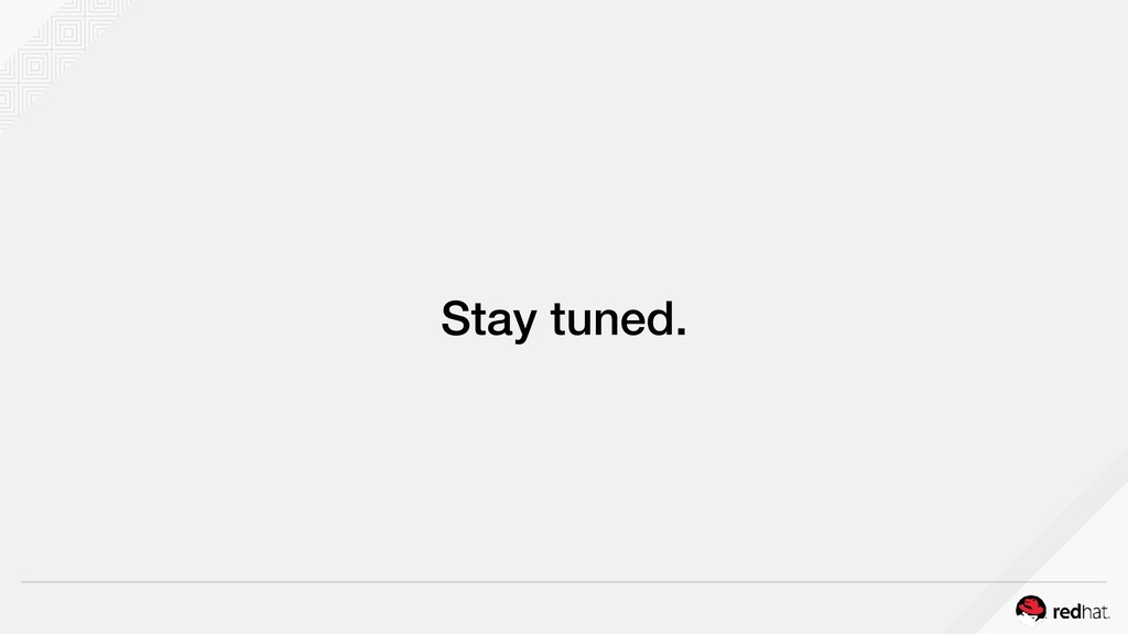 Stay tuned.