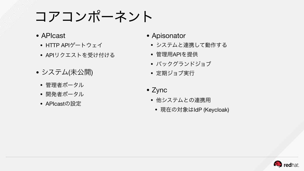 ίΞίϯϙʔωϯτ • APIcast  • HTTP APIήʔτΣΠ  • APIϦΫΤ...