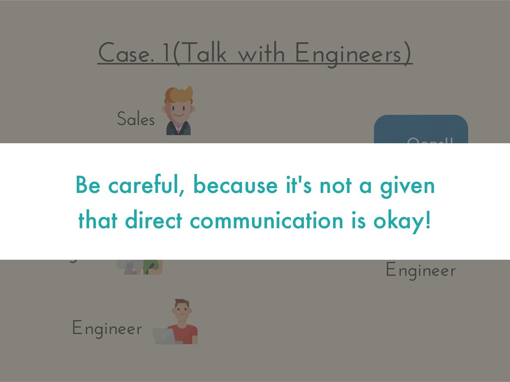 Case. 1(Talk with Engineers) … Oops!! Sales Man...