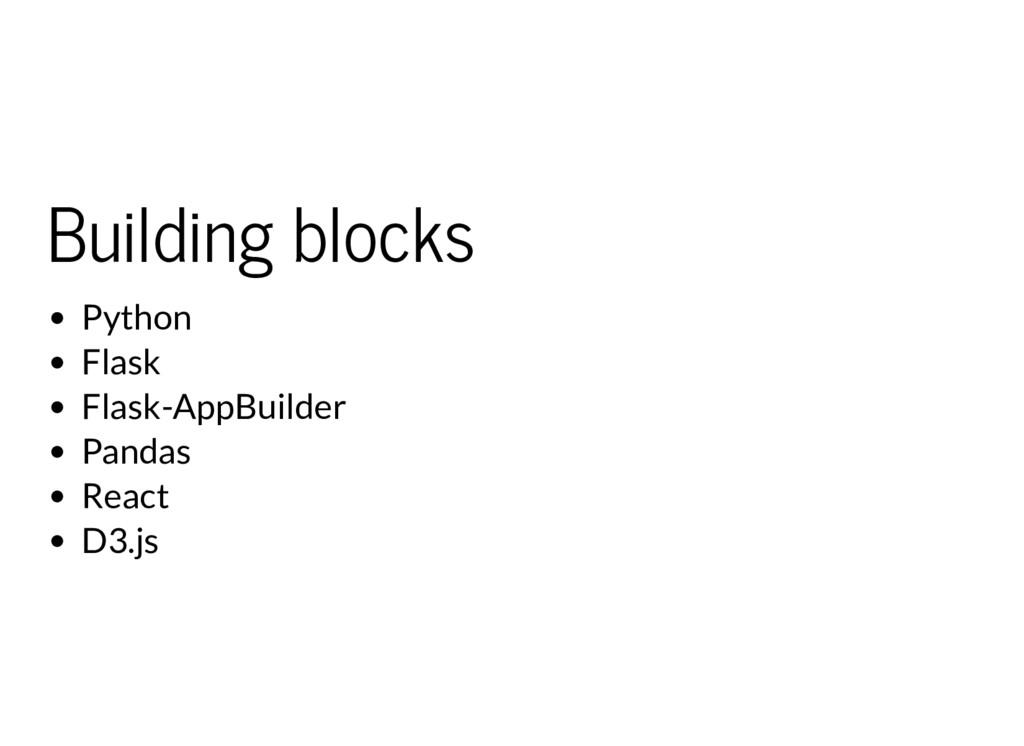 Building blocks Python Flask Flask-AppBuilder P...