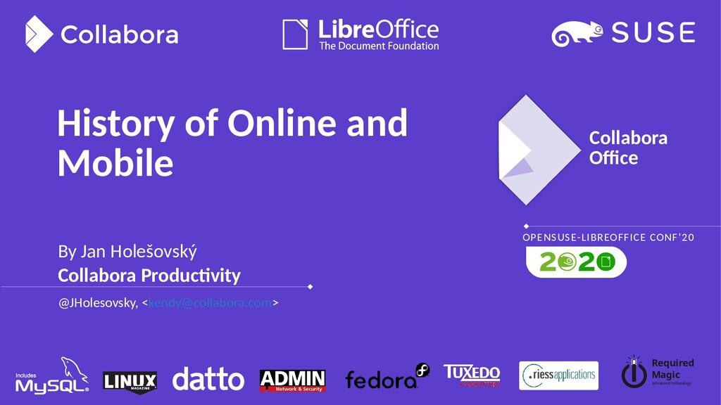 Collabora Office OPENSUSE-LIBREOFFICE CONF'20 R...