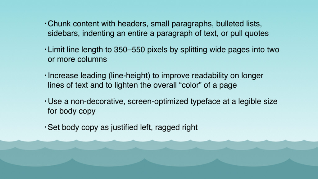 • Chunk content with headers, small paragraphs,...