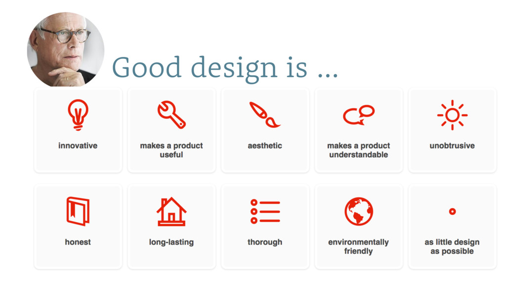 Good design is …
