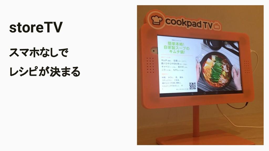 Image Area storeTV スマホなしで レシピが決まる