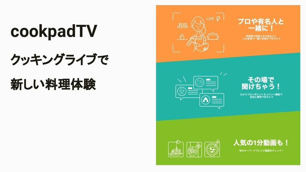 Image Area cookpadTV クッキングライブで 新しい料理体験