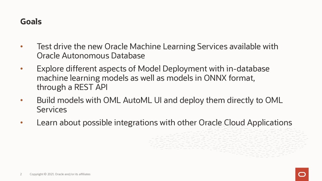• Test drive the new Oracle Machine Learning Se...