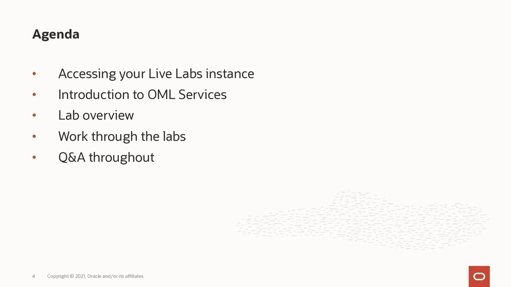 • Accessing your Live Labs instance • Introduct...