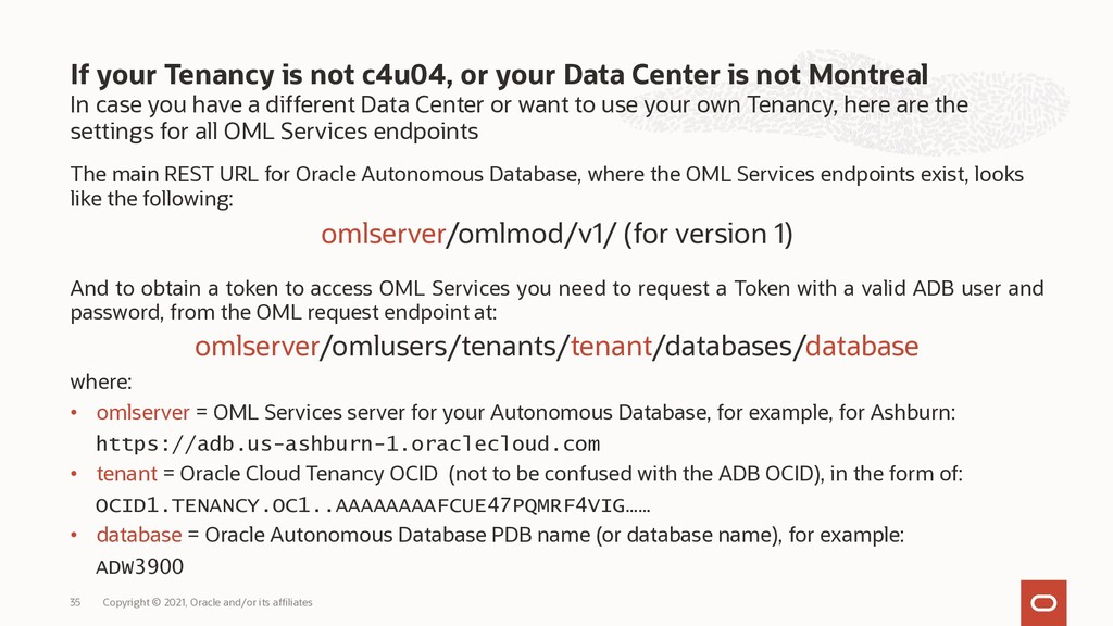 In case you have a different Data Center or wan...
