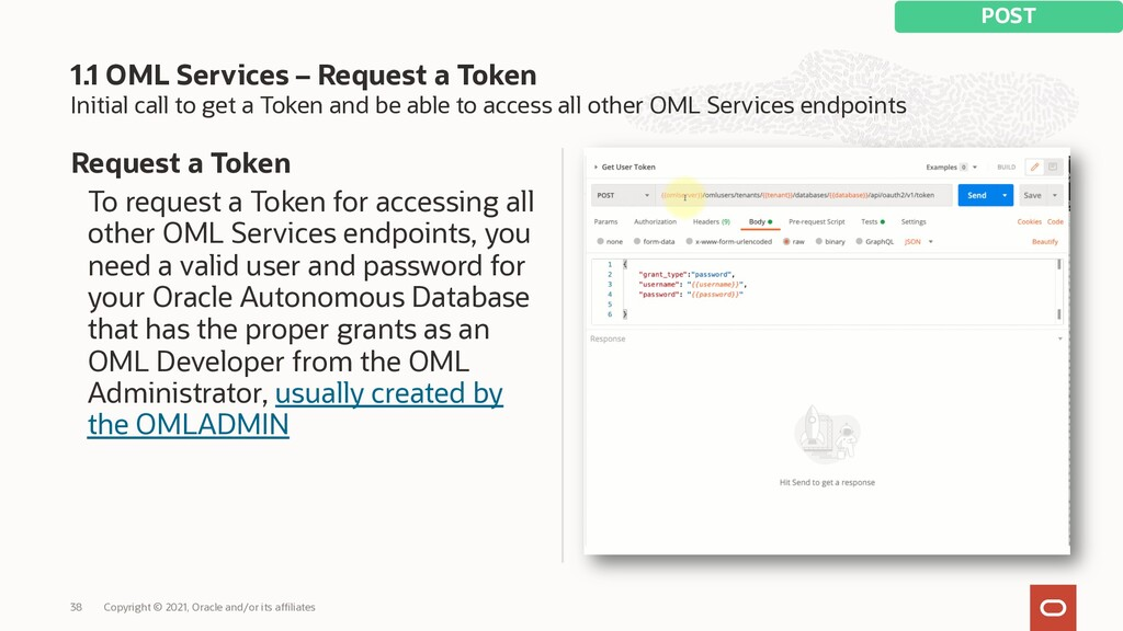 Initial call to get a Token and be able to acce...