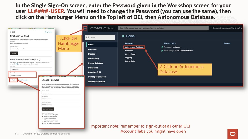 In the Single Sign-On screen, enter the Passwor...