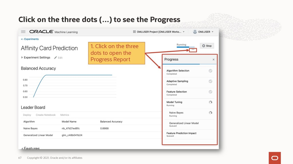 Click on the three dots (…) to see the Progress...