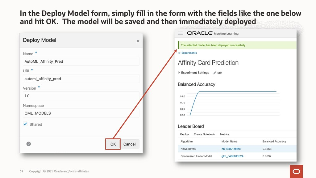In the Deploy Model form, simply fill in the fo...