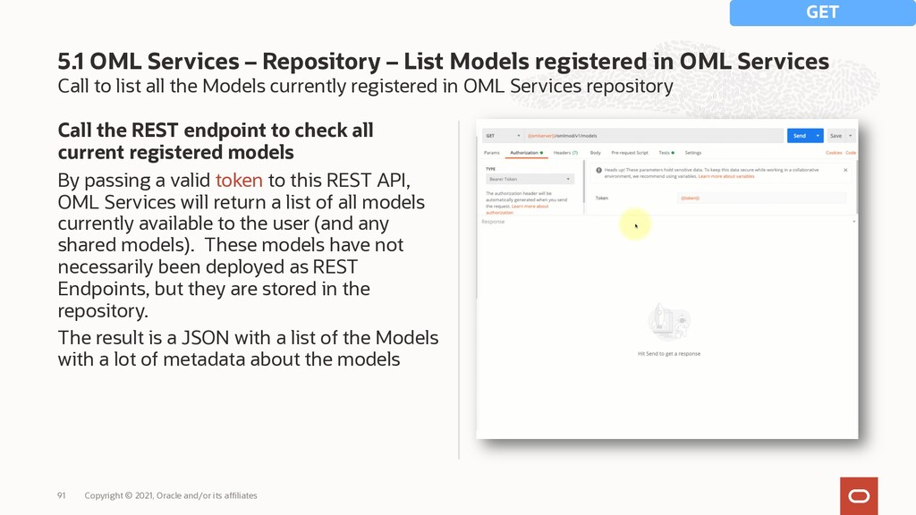 Call to list all the Models currently registere...