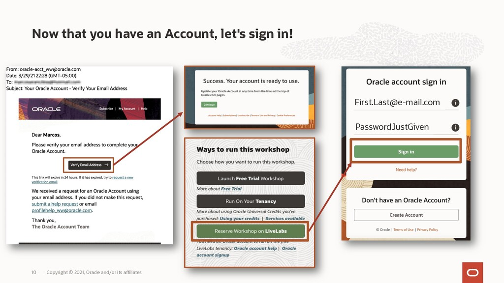 Now that you have an Account, let's sign in! Co...