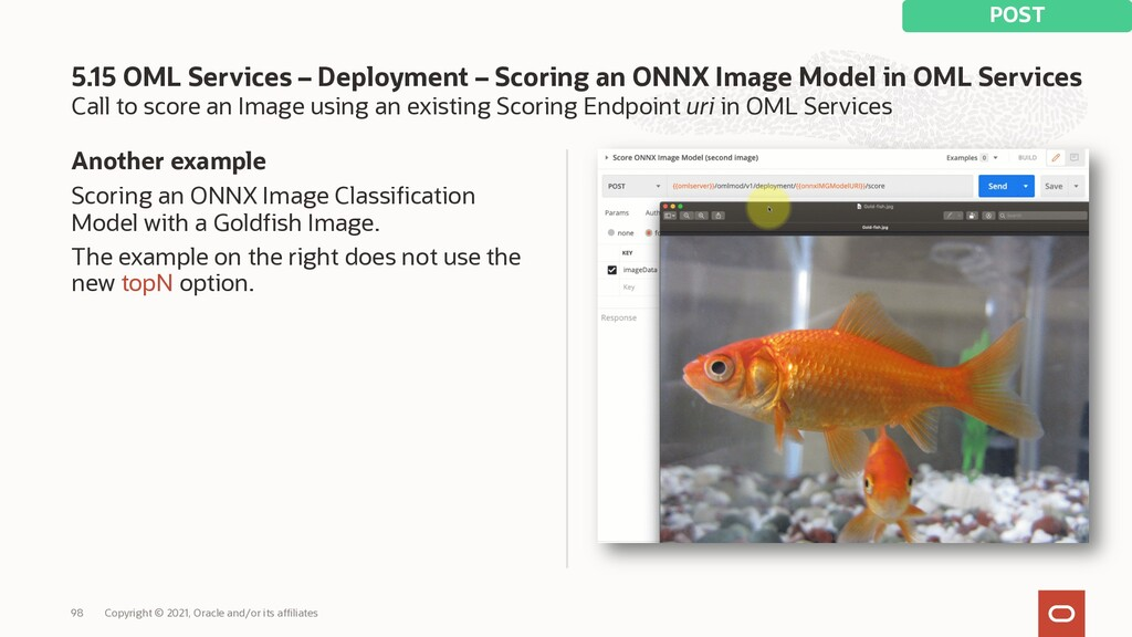 Call to score an Image using an existing Scorin...