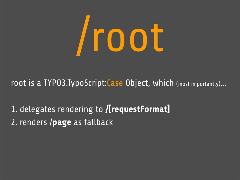 /root root is a TYPO3.TypoScript:Case Object, w...