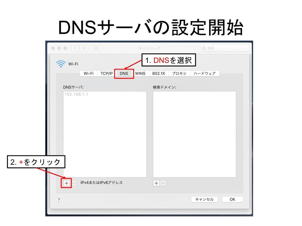 DNS  1. DNS 2. +