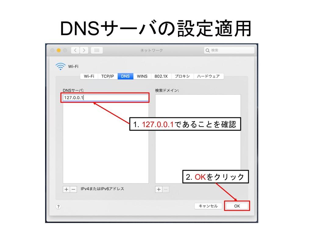 DNS  1. 127.0.0.1 2. OK