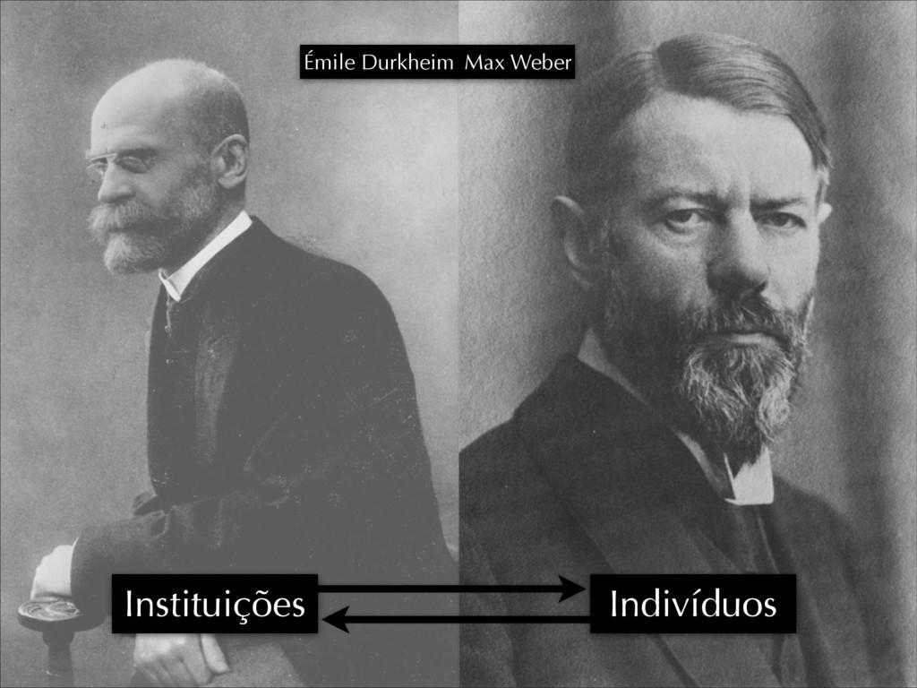 0 Émile Durkheim Indivíduos Instituições Max We...