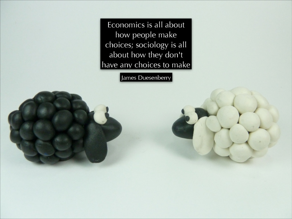 Economics is all about how people make choices;...