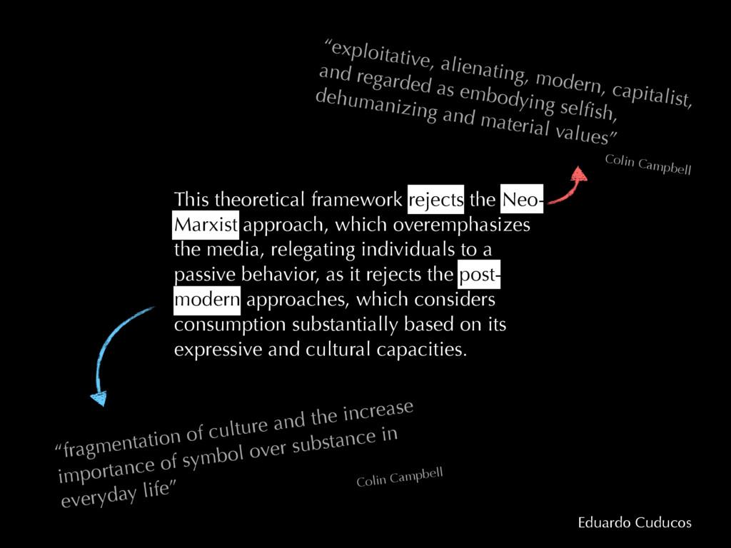 Eduardo Cuducos This theoretical framework reje...