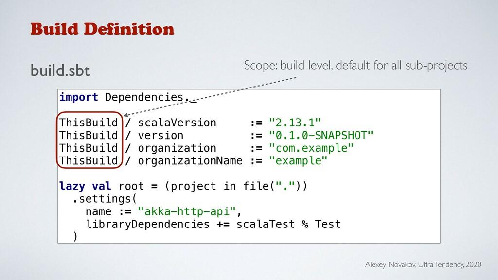 Build Definition build.sbt Alexey Novakov, Ultr...