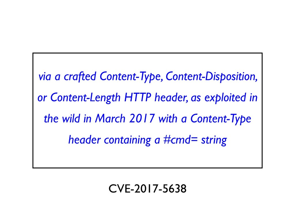 via a crafted Content-Type, Content-Disposition...