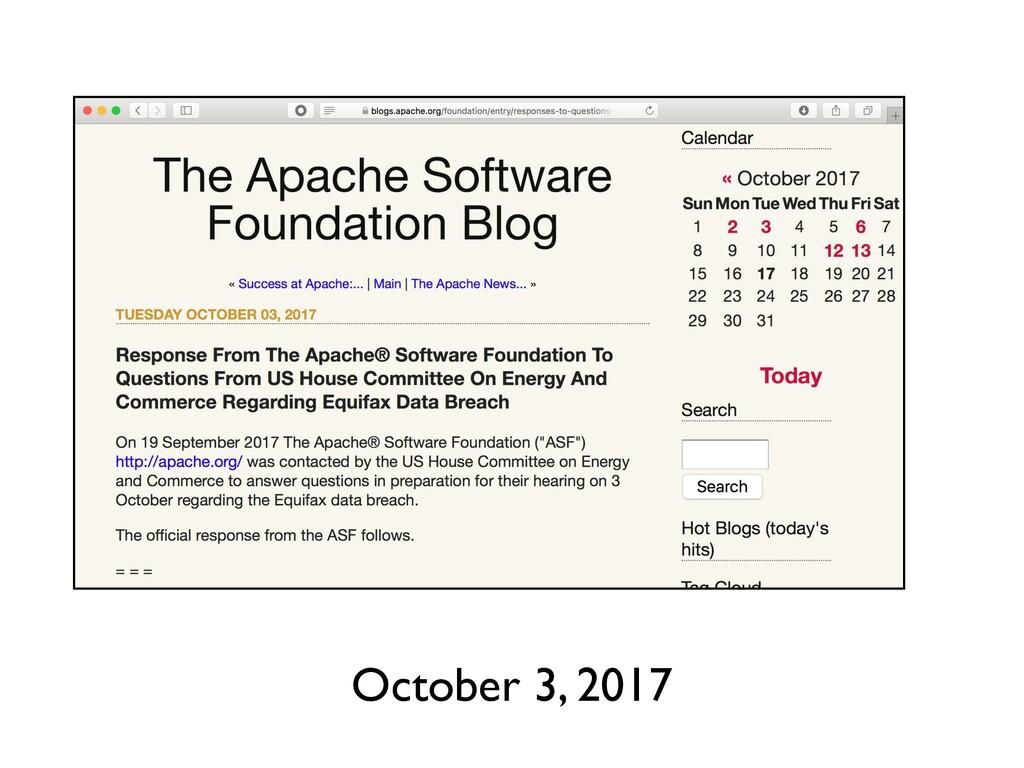 October 3, 2017