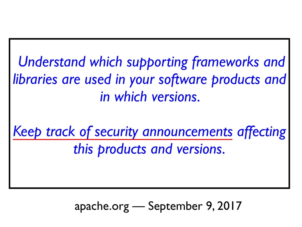 Understand which supporting frameworks and libr...