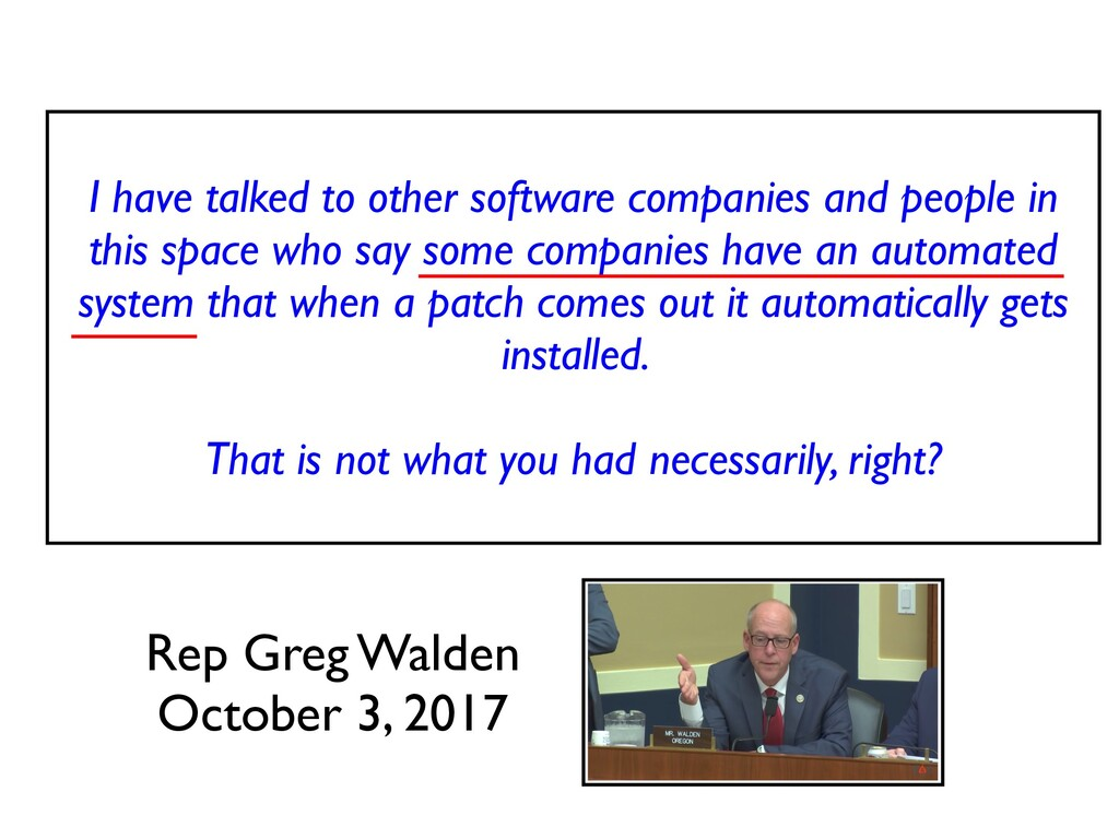 I have talked to other software companies and p...