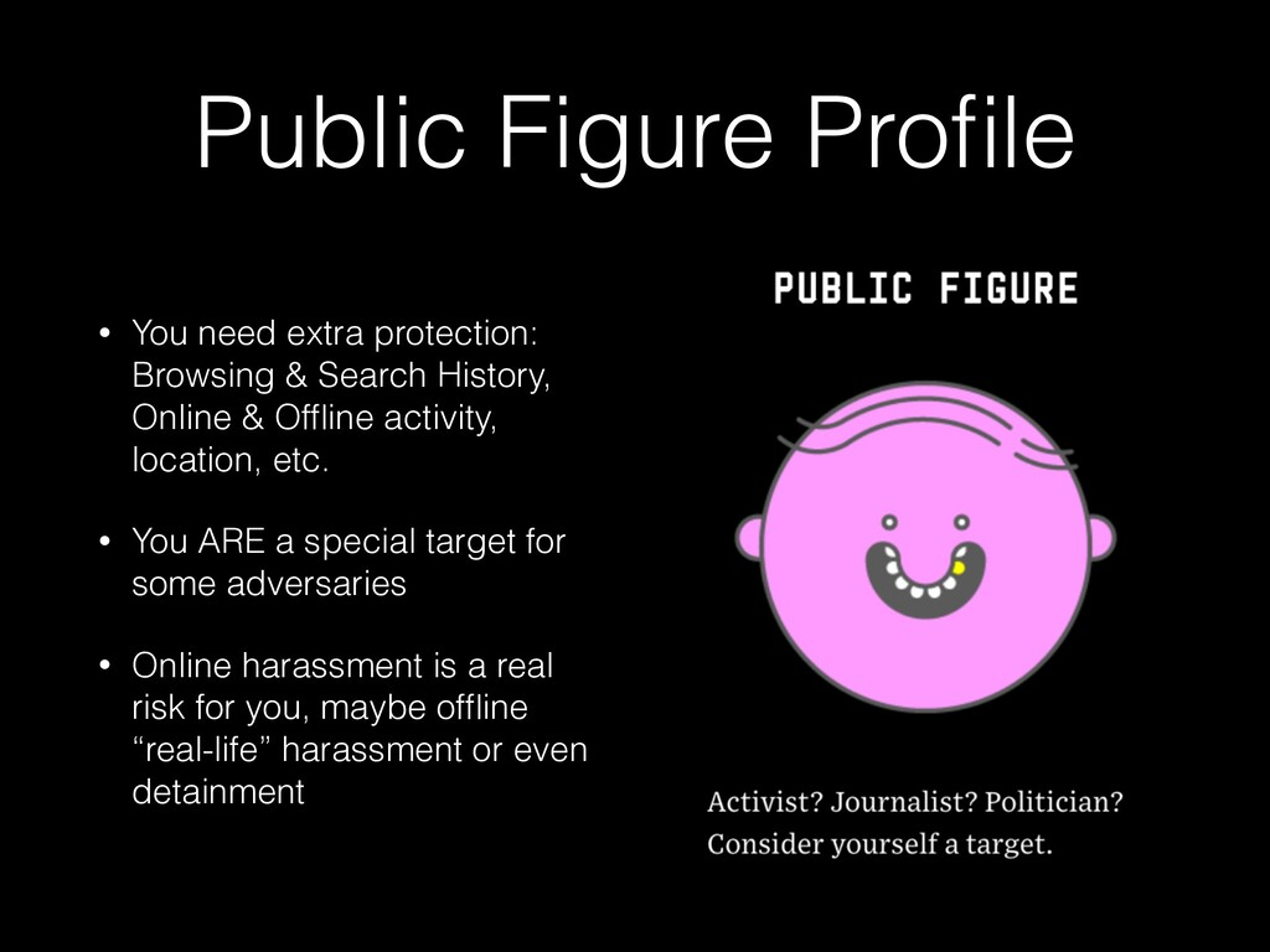 Public Figure Profile • You need extra protectio...