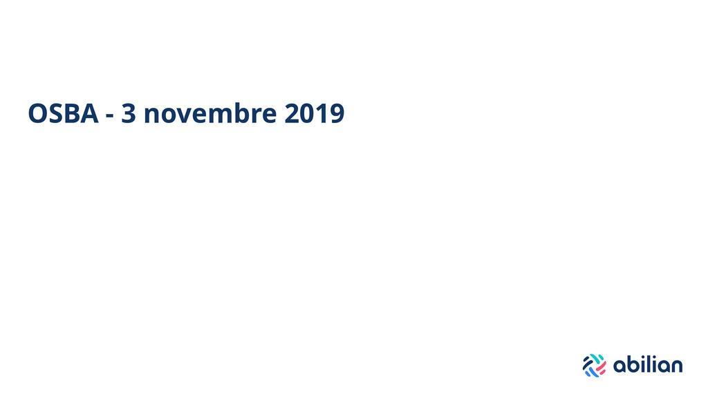 OSBA - 3 novembre 2019