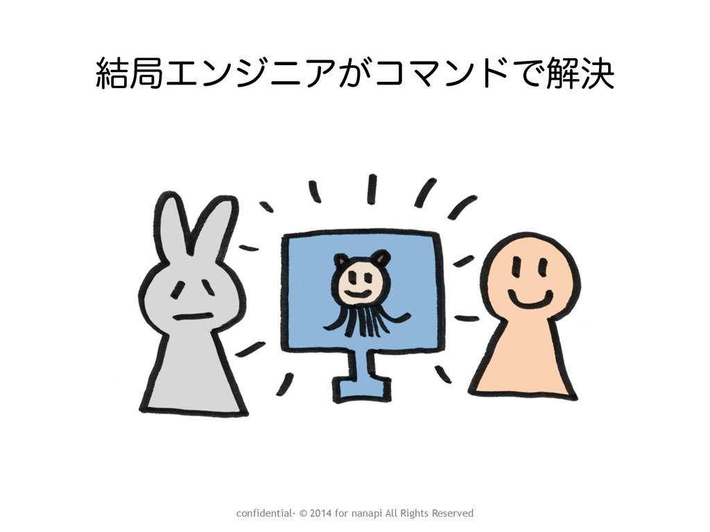݁ہΤϯδχΞ͕ίϚϯυͰղܾ confidential- © 2014 for nanapi...