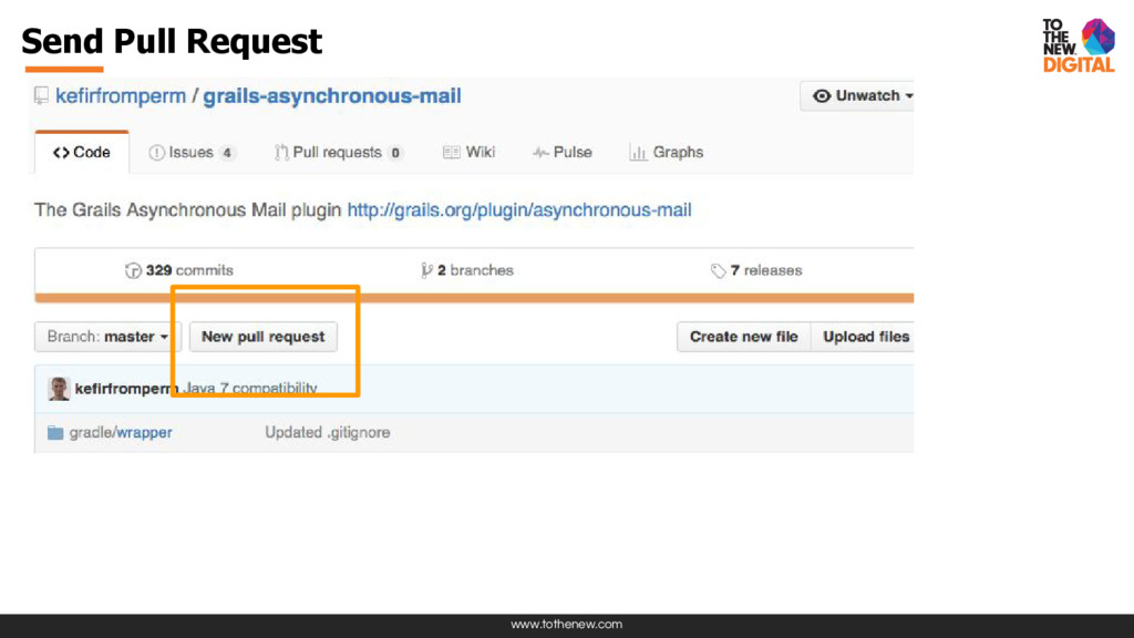 www.tothenew.com Send Pull Request