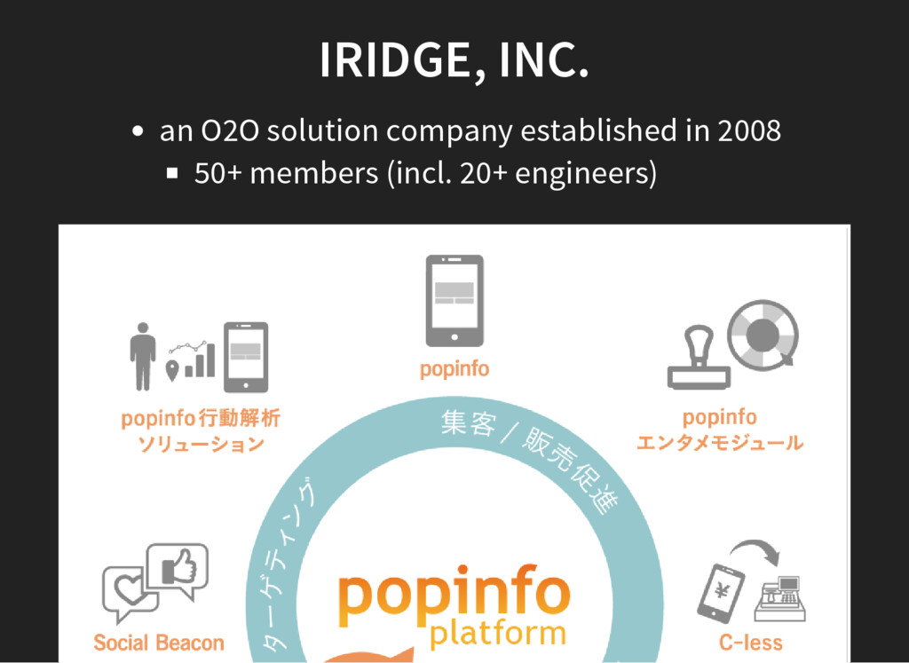 IRIDGE, INC. an O2O solution company establishe...