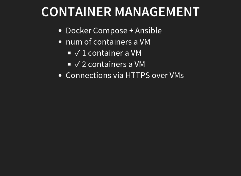 CONTAINER MANAGEMENT Docker Compose + Ansible n...