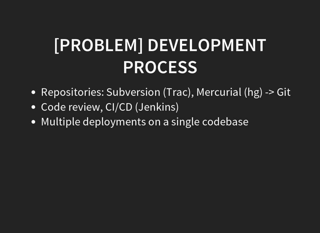 [PROBLEM] DEVELOPMENT PROCESS Repositories: Sub...