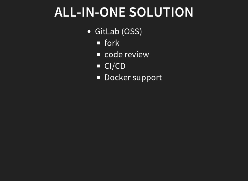 ALL-IN-ONE SOLUTION GitLab (OSS) fork code revi...