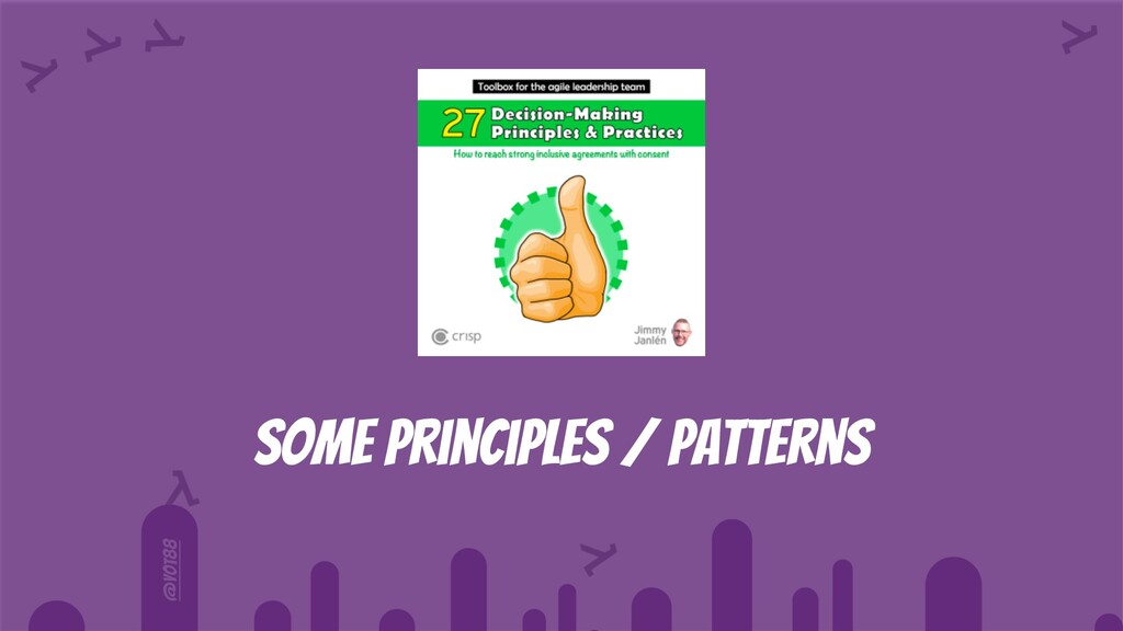 @yot88 Some principles / patterns