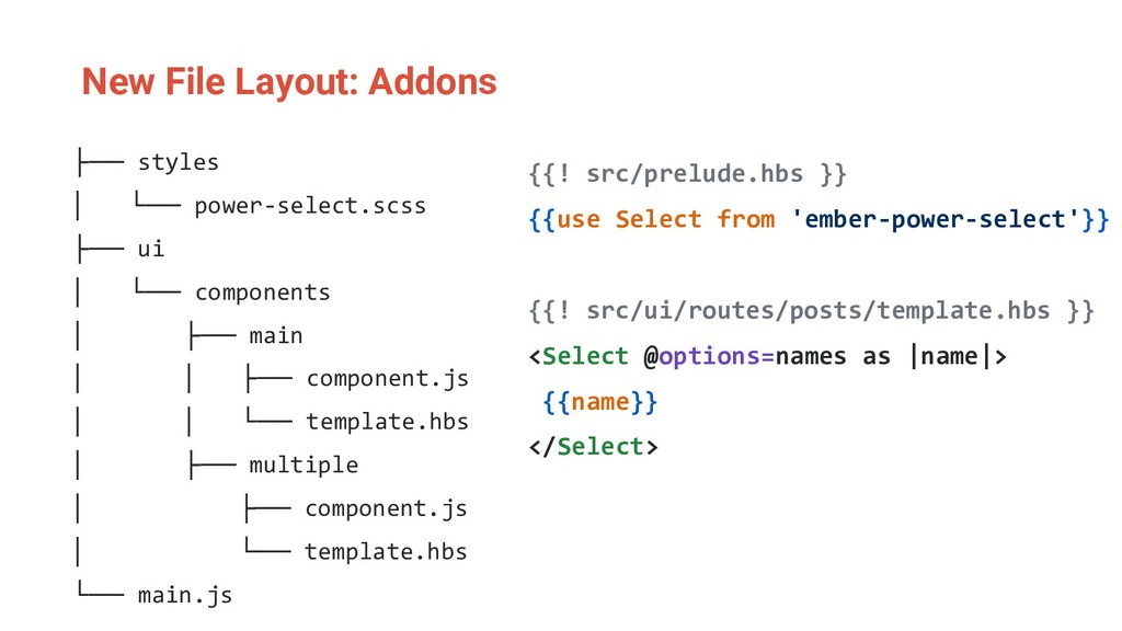 New File Layout: Addons ├── styles │ └── power-...
