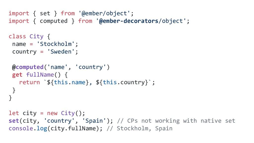 import { set } from '@ember/object'; import { c...