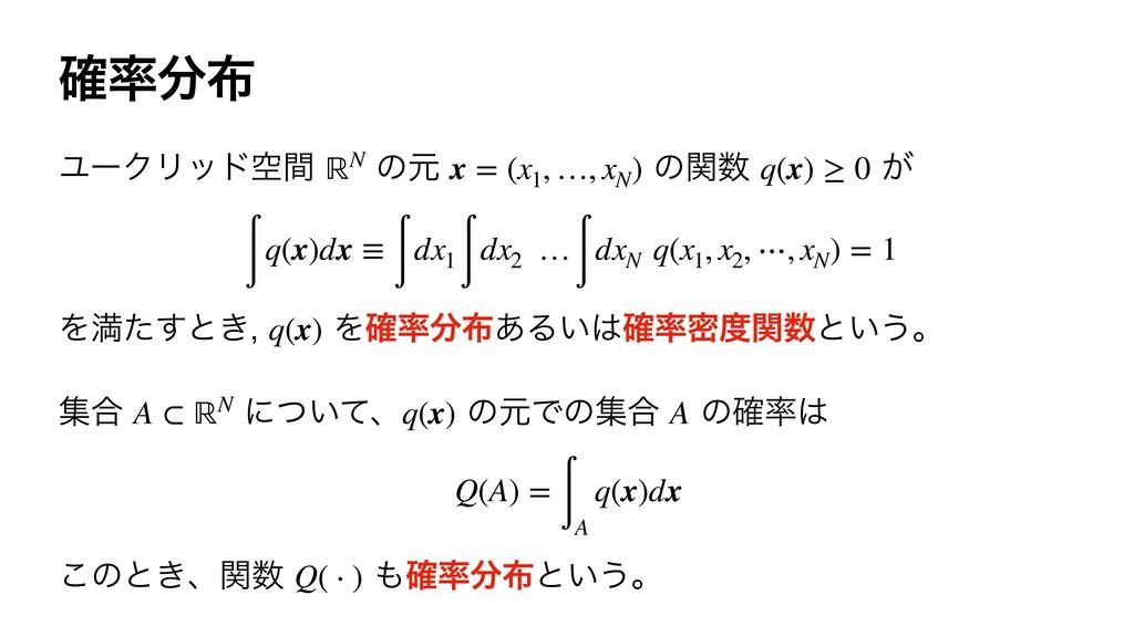 ֬ ϢʔΫϦουۭؒ ͷݩ ͷؔ ͕ ℝN x = (x1 , …, xN...