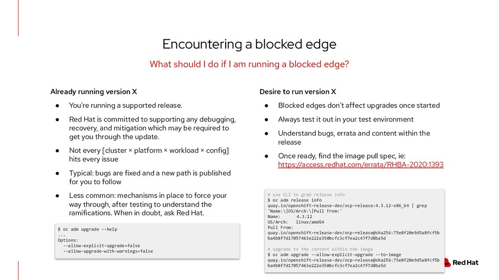 Encountering a blocked edge What should I do if...
