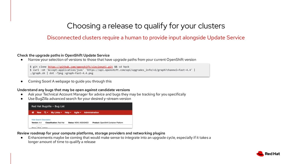 Check the upgrade paths in OpenShift Update Ser...
